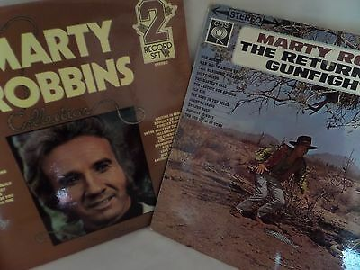 2 x MARTY ROBBINS LP - 'Collection' & 'Return of the Gun Fighter'