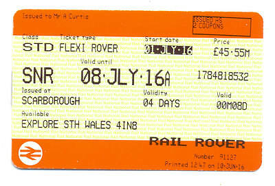 Railway RAIL ROVER TICKET - SOUTH WALES