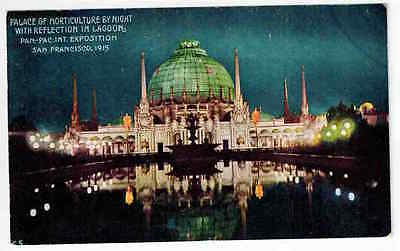 1915 Panama-Pacific Intern. Exposition Palace of Horticulture by Night