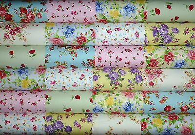 24 Floral Shabby Chic prints cotton fabric quilting 5 inch squares #12b