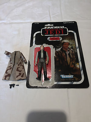 Vintage Star Wars figure Han Solo (in Trench Coat) with card