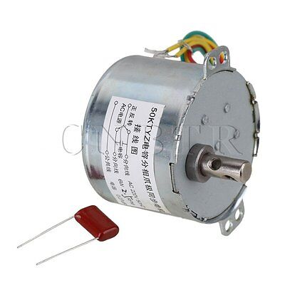 2.5RPM AC220V Gear Motor Synchronous Electric Motor Silver