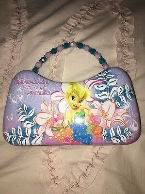 Disney's Tinkerbell Tin Tote/Purse/Carry-All: Purple