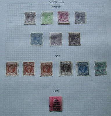Puerto Rico Stamps 1895-1899