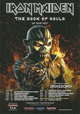 4x IRON MAIDEN promo FLYERS live 2017 book of souls UK concert tour
