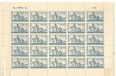 Timbres France - Colonies Francaises - Oeuvres De Solidarite N°66 Mnh