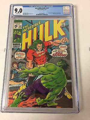 Incredible Hulk 141 Cgc 9.0 Off White Pages