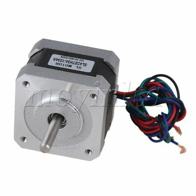 DC12V Two-phase 13A Stepping Motor JK42HS34-1334A Silver