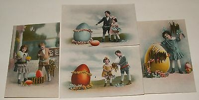 Antique Postcards Children With Easter  Eggs