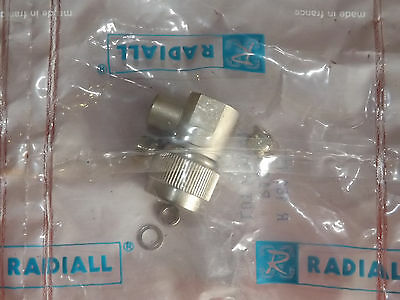 Radiall R161 157 Right Angle Coaxial Connector Male to RG223/RG142/RG223/RG400