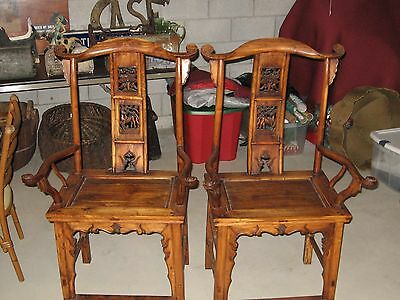 Chinese Arm/Hat Chairs