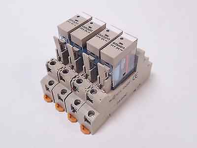 Lot Of 4 Omron G2R-1-Snd(S) 24Vdc Relays / P2Rf-05-E Din Rail Sockets