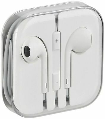 Earphones Headset Earbuds for iPhone 4 5 6 and iPod White Headphones Remote Mic