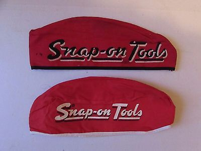 Snap-On Brand Mechanic's Skull Cap & Embroidered Patch Logo 1950's 2 Different