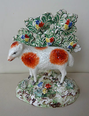 Excellent Early 19th Century Staffordshire Sheep with Bocage - Great Colours