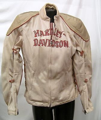 Harley Davidson Women's Tan Ventilated Cycling Jacket Liner Insert Size L