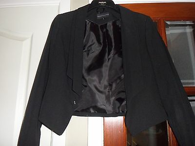 Ladies  Short Jacket  Size 10 Brand M&s Black