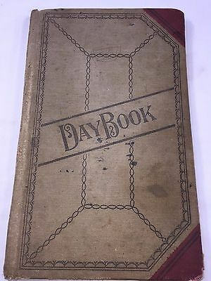 Antique 1918 BUSINESS ACCOUNT LEDGER BOOK journal EMPLOYEES CUSTOMERS JOBS 1372