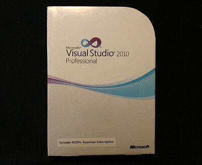 Brand New Microsoft Visual Studio 2010 Professional MSDN Retail C5E-00521