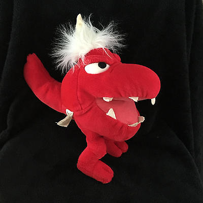LB The Bounder Plush Teddy Ruxpin Red Hand Puppet Worlds Of Wonder VTG 1986 WOW