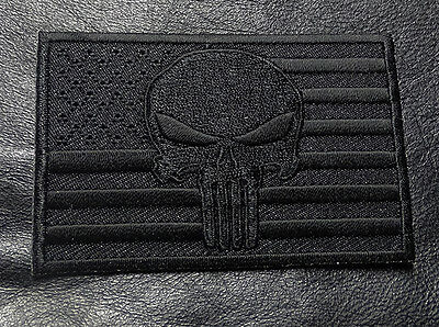 Skull Swat Police Law Enforcement Usa Flag Punisher Iron On Patch
