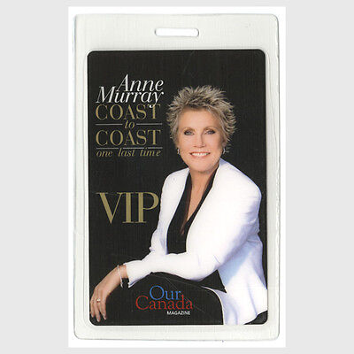 Anne Murray authentic 2008 concert tour Laminated Backstage Pass