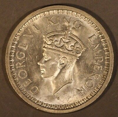 1945 India British Rupee Silver Nice                ** FREE U.S SHIPPING **
