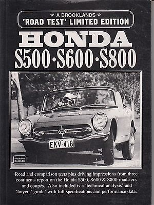 Honda S500 S600 S800 Coupe & Convertible ( 1963- 1970 ) Period Road Tests Book