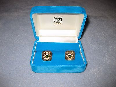Vintage Ontario Government Canada Sterling Silver Cufflinks Men's Cuff links