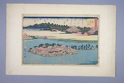 Japanese Woodblock Print by HIROSHIGE - Famous Places in Edo - 1828
