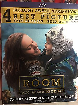Room (Blu-ray Disc, 2016) WITH slipcover NEW