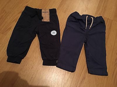 Baby Boys Navy Trousers Size 6-9 Months