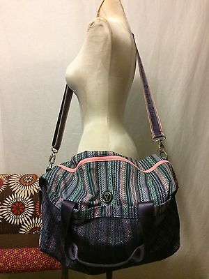 LKnew! Ivivva by Lululemon Girls Duffle Gym Bag Workout Tote Pink Blue Gray