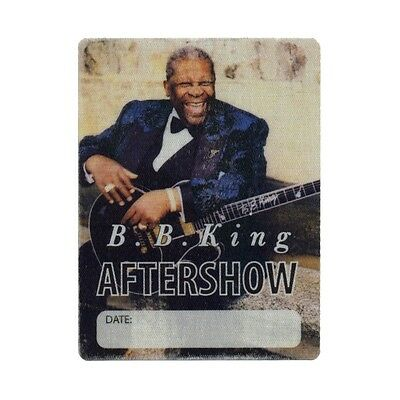 BB King authentic Backstage 1999 tour Backstage Pass