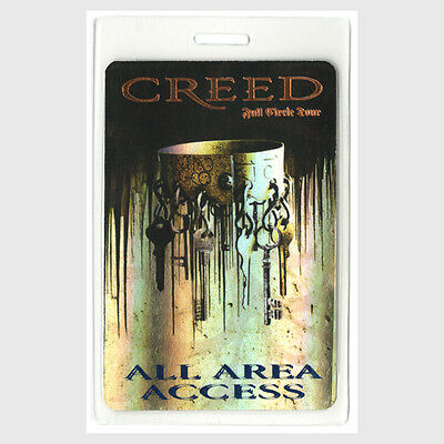 Creed authentic 2010 concert tour Laminated Backstage Pass