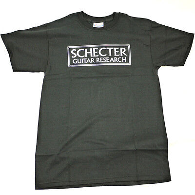 Schecter T Shirt - Black - White Logo - Small