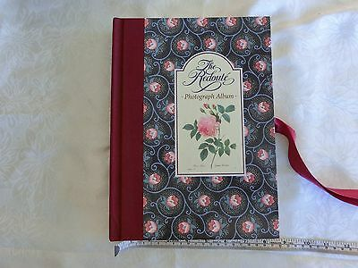 1980's OLD STYLE THE REDOUTE' PHOTO ALBUM--BEAUTIFUL ROSES