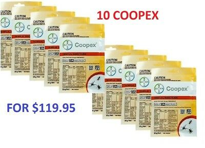 10 X Bayer Coopex Residual 25G Permethrin Water Soluble Outdoor Pesticide