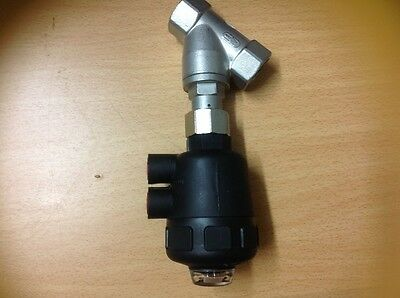 "Angle Seat Valve 20mm (3/4"") 316 ss"