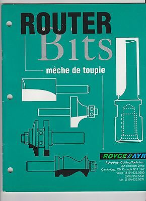 Vintage Catalogue Royce Ayr Router Bits Great Vintage Graphics