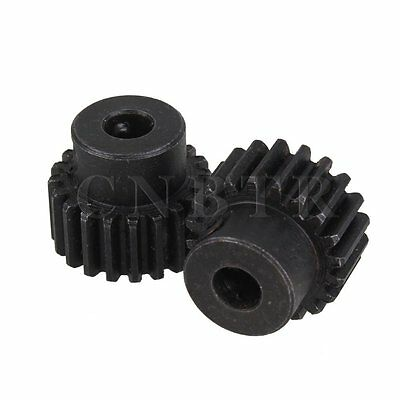 20 Teeth 0.635cm Hole Diameter Motor Metal Steel Gear Wheel Set of 2