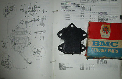 NOS BMC Front Right Side Engine Mount 22G418.  MG Austin 1100/1300 America.  \