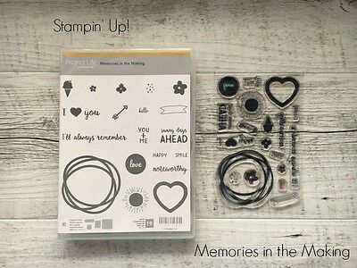 "Stampin' Up! RETIRED STAMP SET ""Memories in the Making"""