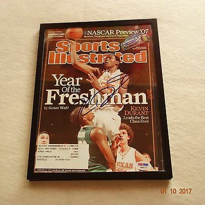 Kevin Durant Signed Sports Illustrated Rookie Year (07) Psa/dna ~ Framed