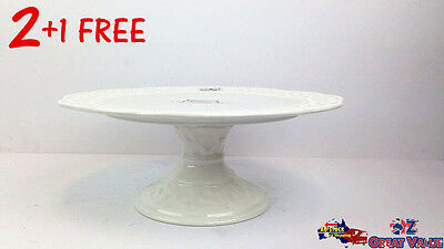 2+1 Free Plate Stand Serving Freestanding Cake Stand Display Wedding Birthday