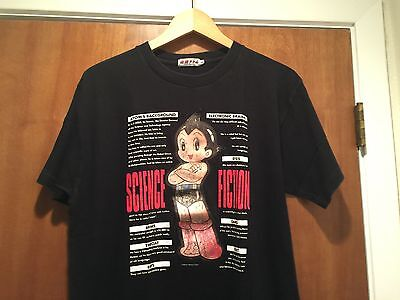 Rare • ASTRO BOY Mighty Atom Lenticular Hologram T-Shirt • Men's Large • Black