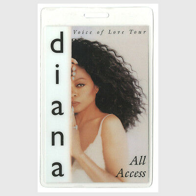 Diana Ross authentic 1996-1997 concert tour Laminated Backstage Pass