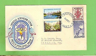 #d281.  1956 Melbourne Olympic  First Day Cover - Essendon
