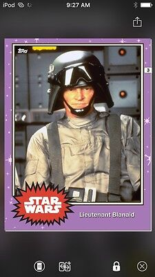 Topps Star Wars Digital Card Trader Preview Lieutenant Blanaid Base 4 Variant