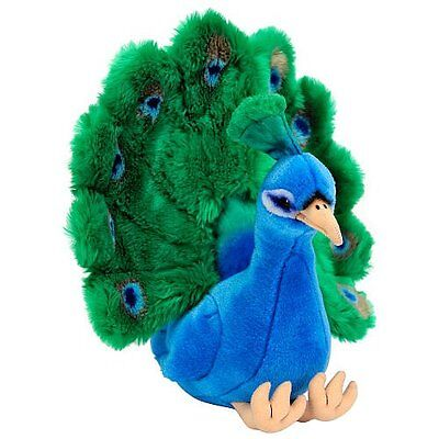 "Fao Schwarz 15""Plush Peacock Blue/Green Toy Play Soft New"